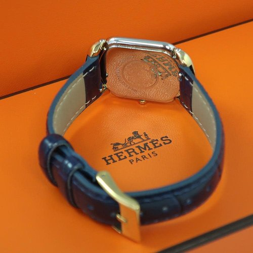 Hermès Rallye Watch Gold Vermile Case with Gold Arabic Numerials
