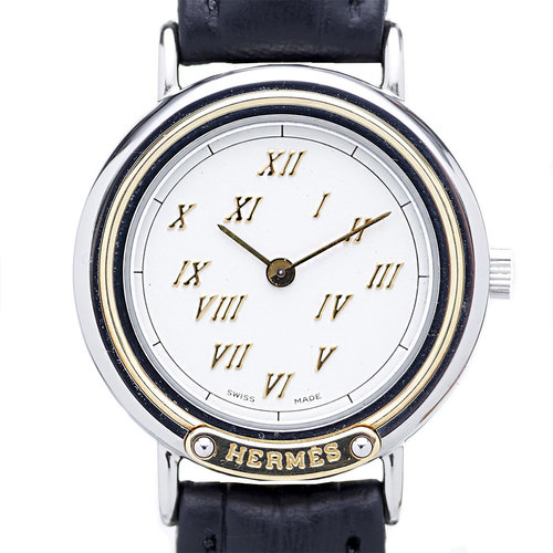 Hermès Meteore Ladies Stainless Steel and 18kt. Gold