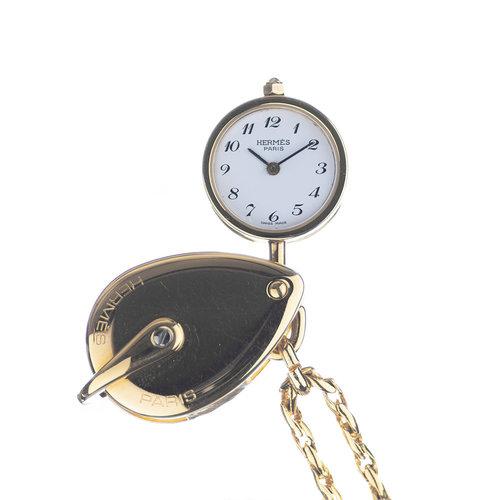 Hermès Secret Watch Pendent Necklace