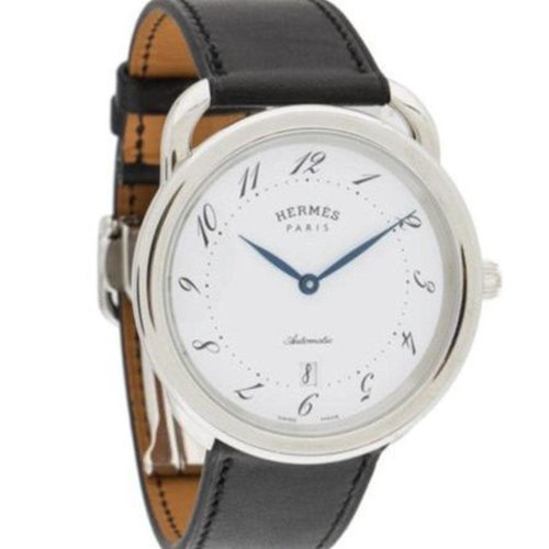 Hermès Paris Arceau SS White Dial Mens Automatic 41mm