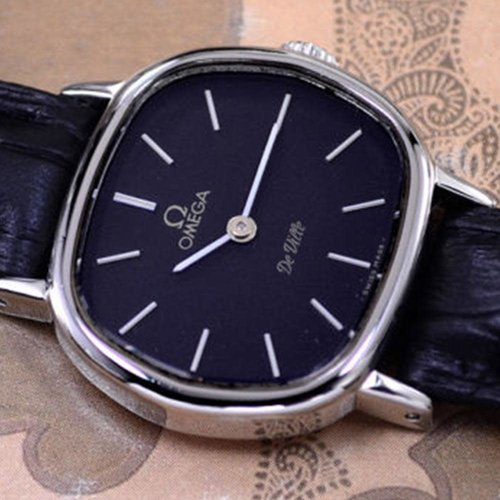 Omega Vintage DeVille Manual Cal 625 Black Dial Dress Womens Watch
