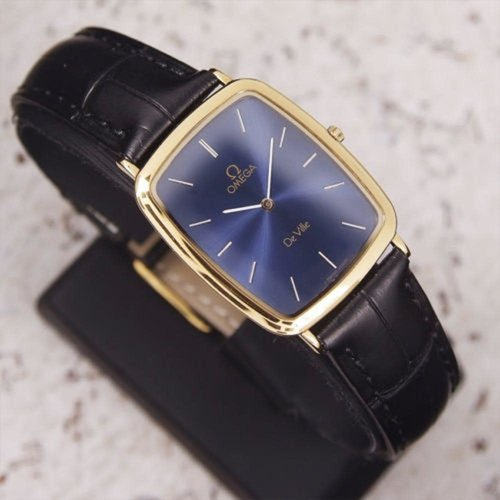 Omega Classic Gold Plated Blue DeVille