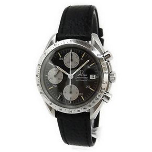 Omega Speedmaster Chronograph Automatic Date Watch 3511.50 Cal.1152 Leather Band