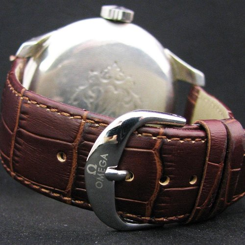 Omega 1915 Antique Wrist Watch - Large Silver Case with Medals on the Inside of the Back Casing - Signed and Numbered