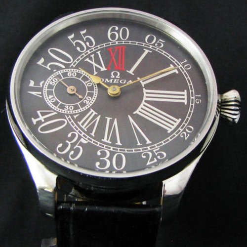 Omega Antique 1911 Large Art Deco Wristwatch