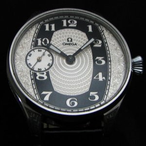 Omega Circa 1910 Antique Large Art Deco Wrist Watch