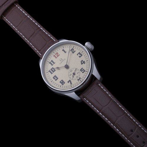 Omega Pre-1920 Swiss Made Signed Movement with New Dial & Case