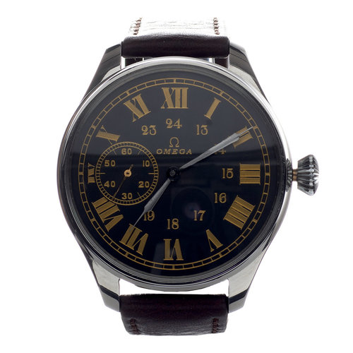 Omega Vintage Wristwatch Roman Numerals & Arabic Military Time