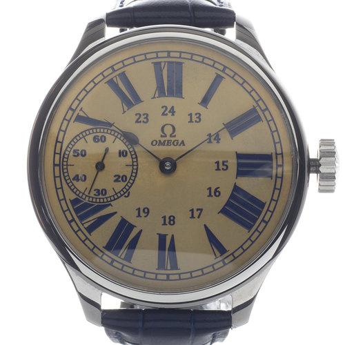 Omega Antique Circa 1910 Large Art Deco Wrist Watch
