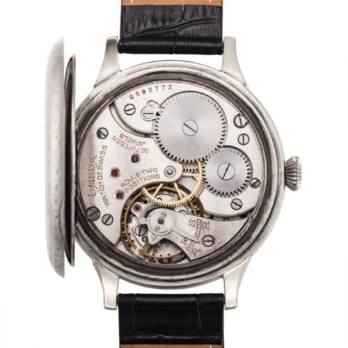 Omega 1926 Signed 15 Jewel Movement with Rare Decorative Case