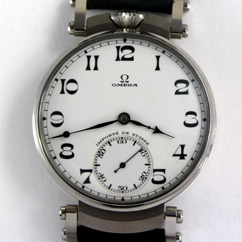 Omega Superb Movement Circa 1925 - Signed and Numbered Jumbo Art Deco Style Swiss Wrist Watch