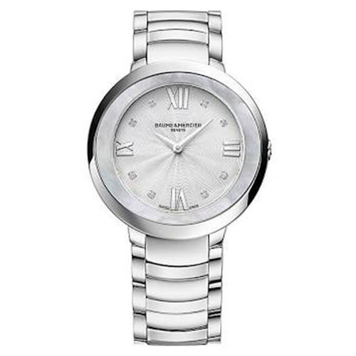 Baume & Mercier Promesse Diamond Watch High Polish Steel 30mm