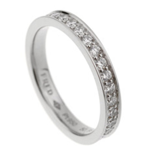 Fred Platinum Diamond Alliances Eternity Ring