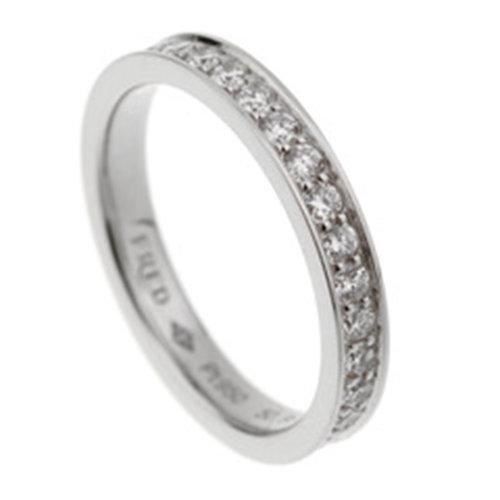 Fred Platinum Diamond Alliances Eternity Ring