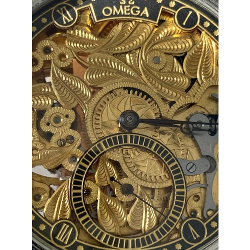 Omega Antique Movement - Circa 1920 - with Custom Made Case and Skeleton Dial