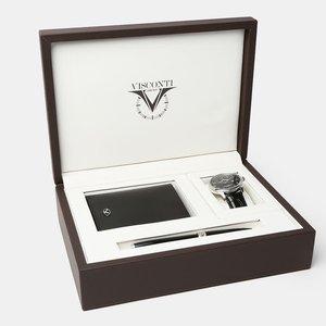 Visconti Visconti 3pc. Adam Gift Set in Brown Leather Presentation Box