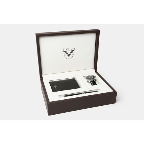 Visconti Visconti 3pc. Adam Gift Set in Brown Leather Presentation Box