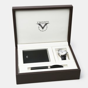 Visconti Visconti 3pc. Antares Gift Set in Brown Leather Presentation Box