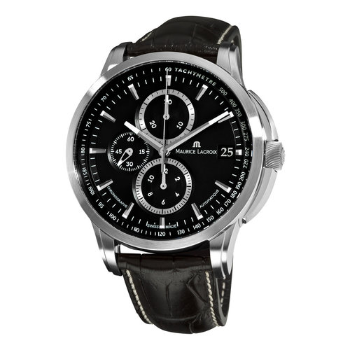 Maurice Lacroix Pontos Valgranges Mens Stainless Steel Oversized 47mm Chronograph