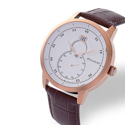 Bolvaint Mallory Blanc in Rose Gold Men's Dress Watch