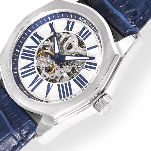 Aqua Swiss Men's 30GA004 Blue/ Silver Legend Automatic Watch