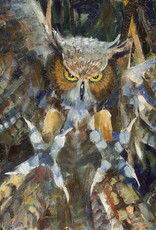 Jennifer Cook-Chrysos Chrysos Designs Artworks, Archival Print, Owl, 16 x 20