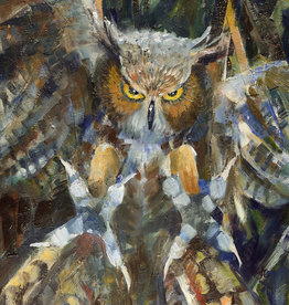Jennifer Cook-Chrysos Chrysos Designs Artworks, Fine Art Print-Owl, 16 x 20