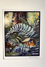 Jennifer Cook-Chrysos Chrysos Designs Artworks, Fine Art Print-Ferns and Fox, 16 x 20