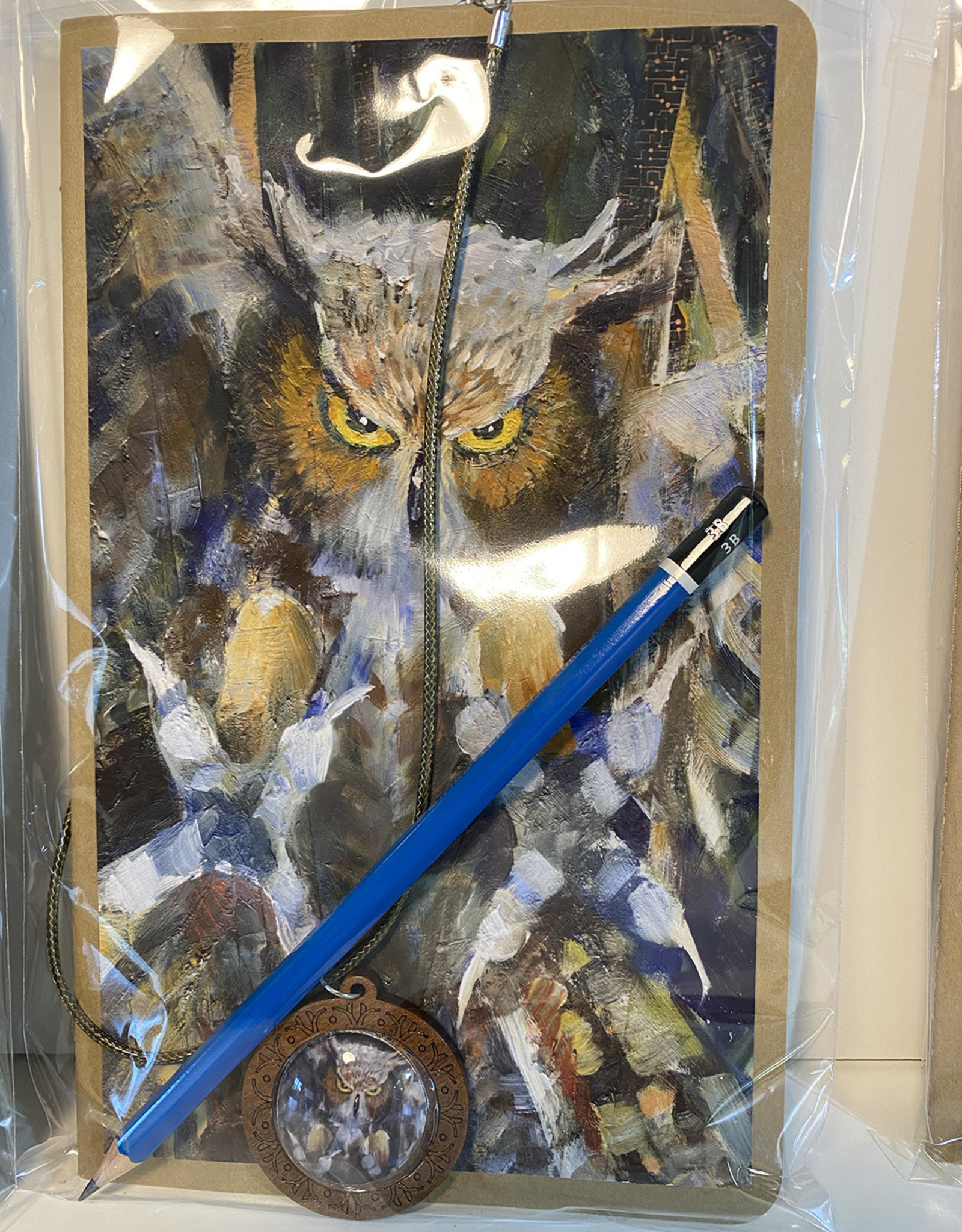 Jennifer Cook-Chrysos Chrysos Designs Artworks, Sketchbook-Owl