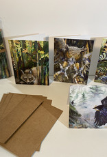 Jennifer Cook-Chrysos Chrysos Designs Artworks, Backyard Wildlife Cards 4pk