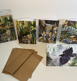 Jennifer Cook-Chrysos Chrysos Designs Artworks, Backyard Wildlife Cards 4pk