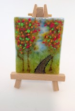 Ann Mackiernan Mini Fused Glass Powder Painting - Fall Trail