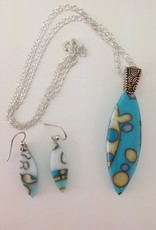 Ann Mackiernan Fused Glass Pendant & Earring Set - PE5