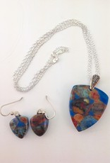 Ann Mackiernan Fused Glass Pendant & Earring Set - PE7