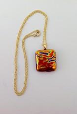 Ann Mackiernan Fused Glass Pendant - Medium - M1
