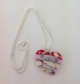 Ann Mackiernan Fused Glass Pendant - Large - L2
