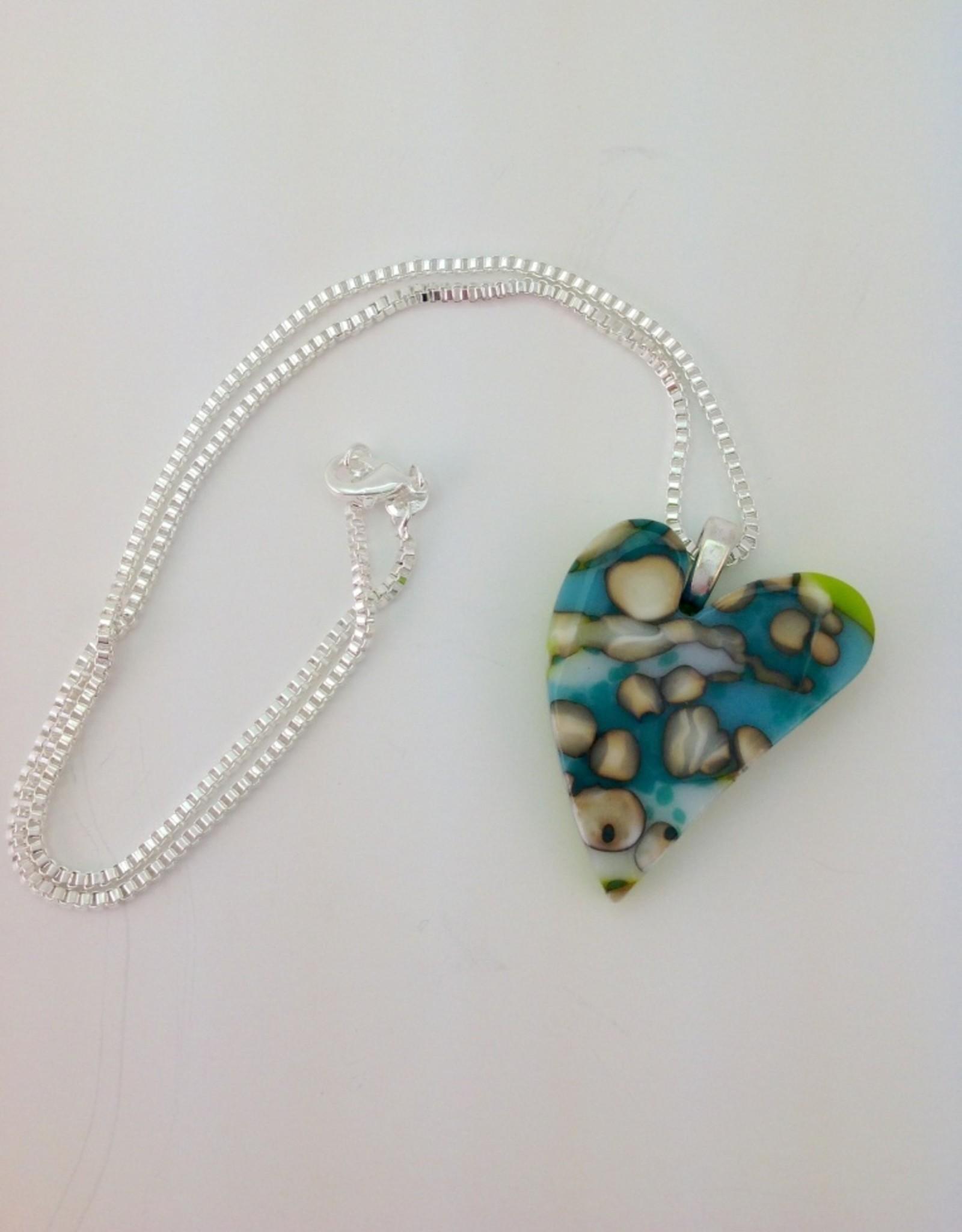 Ann Mackiernan Fused Glass Pendant - Large - L3