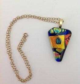 Ann Mackiernan Fused Glass Pendant - Large - L4