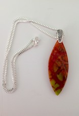Ann Mackiernan Fused Glass Pendant - Large - L5