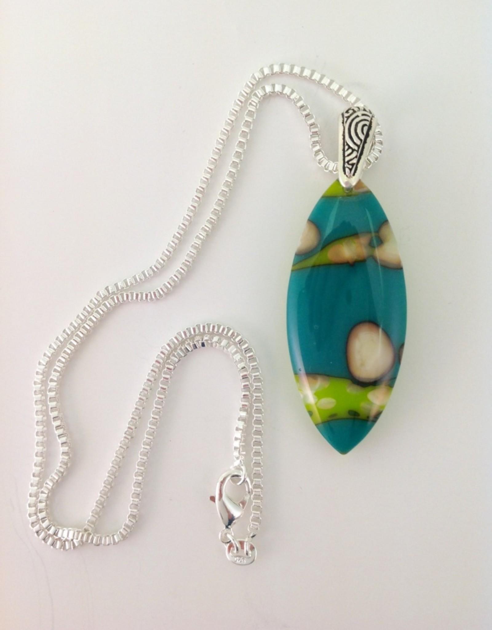 Ann Mackiernan Fused Glass Pendant - Large - L7
