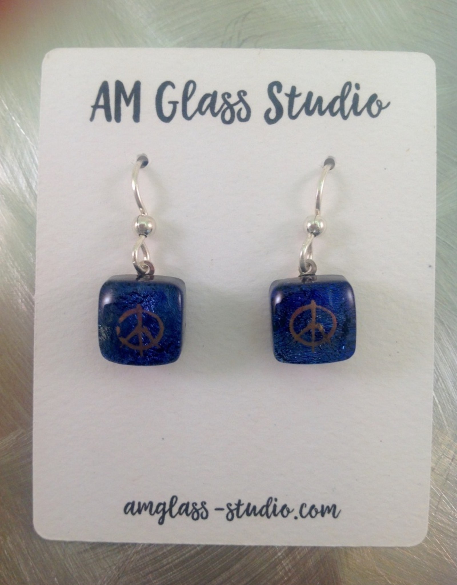 Ann Mackiernan Fused Glass Earrings Small - S1