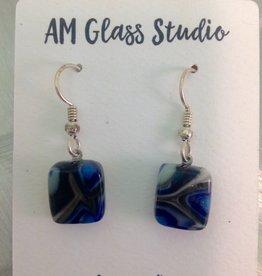 Ann Mackiernan Fused Glass Earrings Small - S2