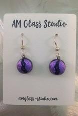 Ann Mackiernan Fused Glass Earrings Small - S3