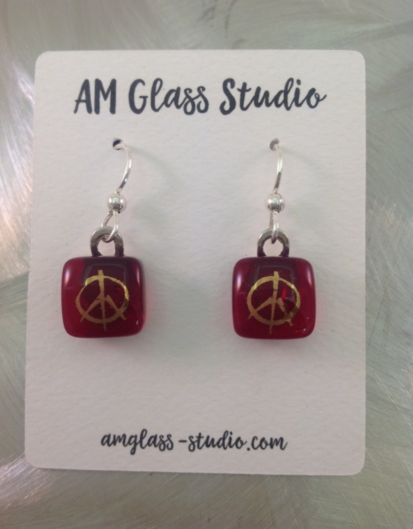 Ann Mackiernan Fused Glass Earrings Small - S4