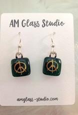 Ann Mackiernan Fused Glass Earrings Small - S5