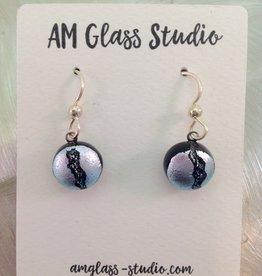Ann Mackiernan Fused Glass Earrings Small - S6
