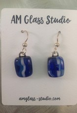 Ann Mackiernan Fused Glass Earrings Medium - M1