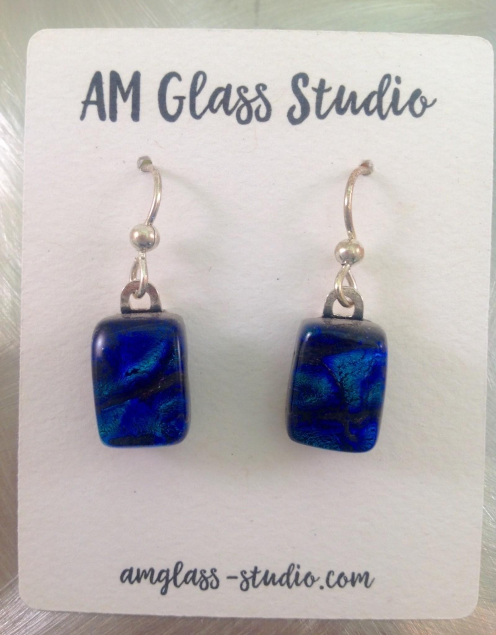 Ann Mackiernan Fused Glass Earrings Medium - M2