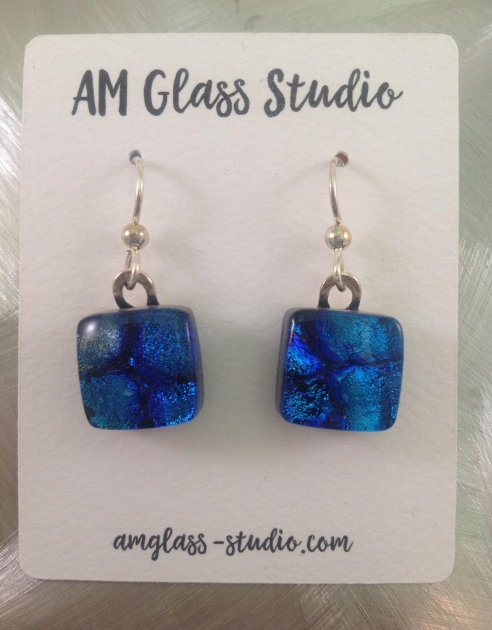Ann Mackiernan Fused Glass Earrings Medium - M4