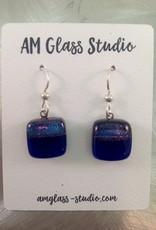 Ann Mackiernan Fused Glass Earrings Medium - M5